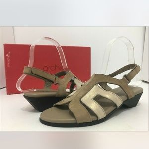 🆕Arche Sand Brown Nubuck Low Heel Sandal Platform